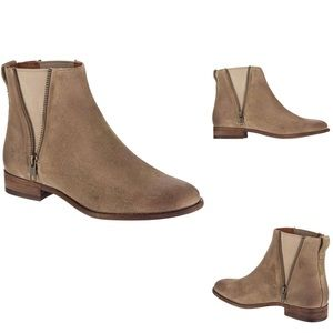 NWOB Frye Carly Zip Suede Chelsea Ankle Boots 9